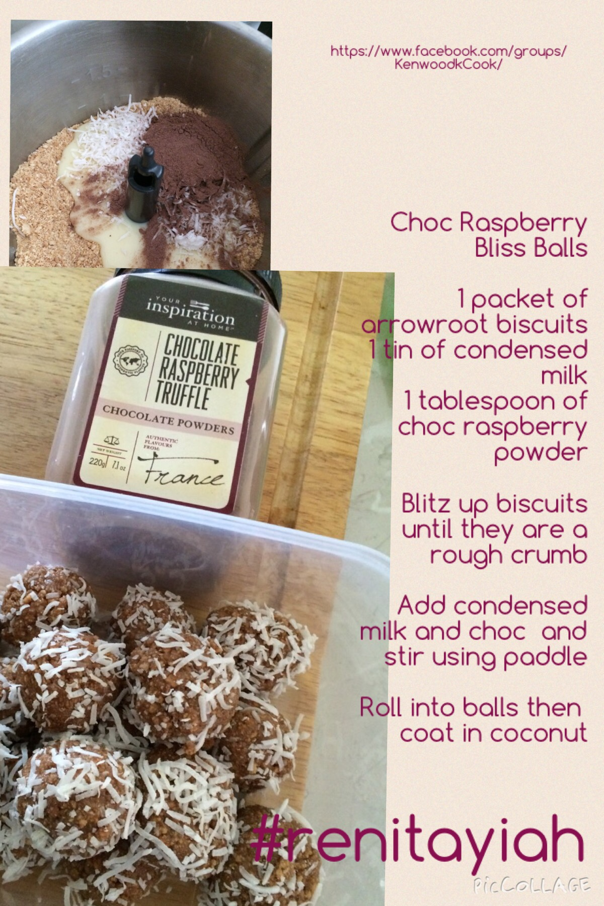 Choc Raspberry Bliss Balls