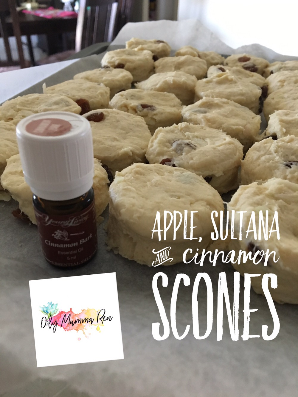 Apple, Sultana & Cinnamon Scones