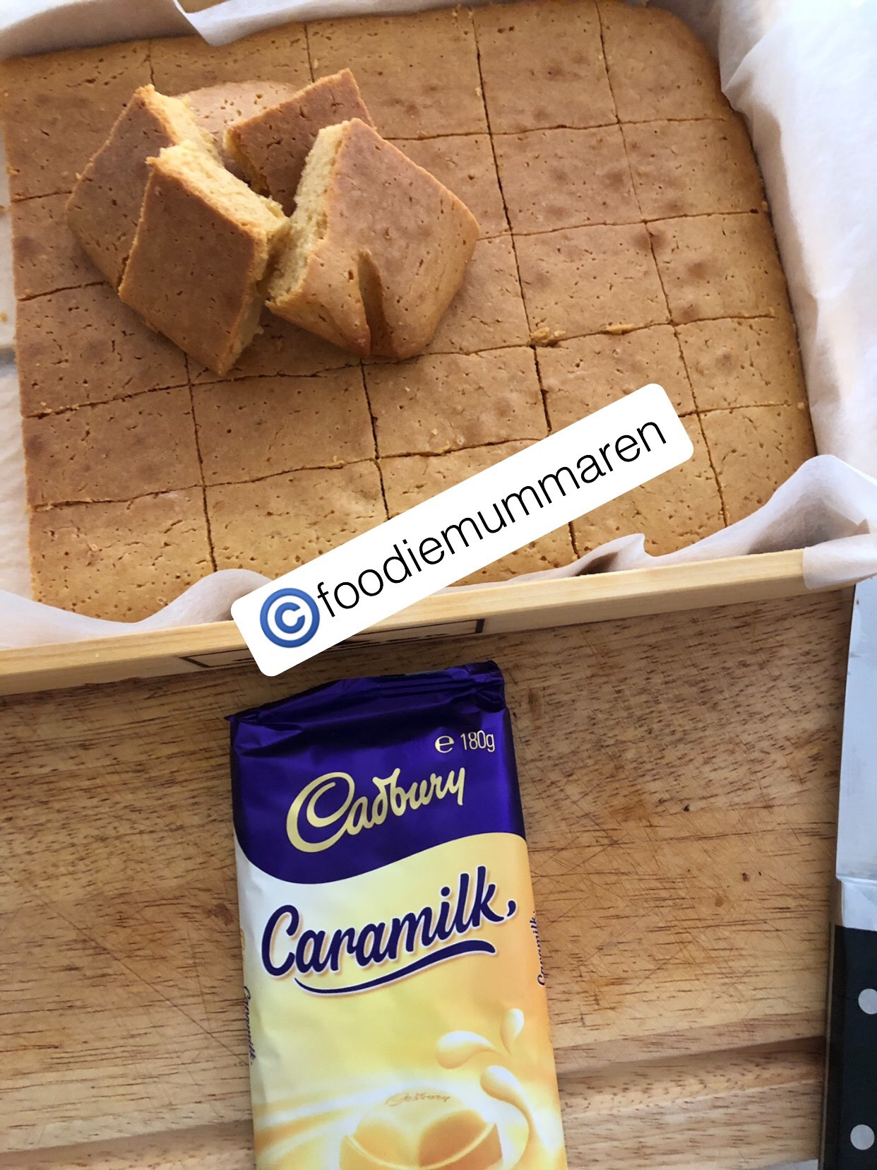 Caramilk Blondie Brownies