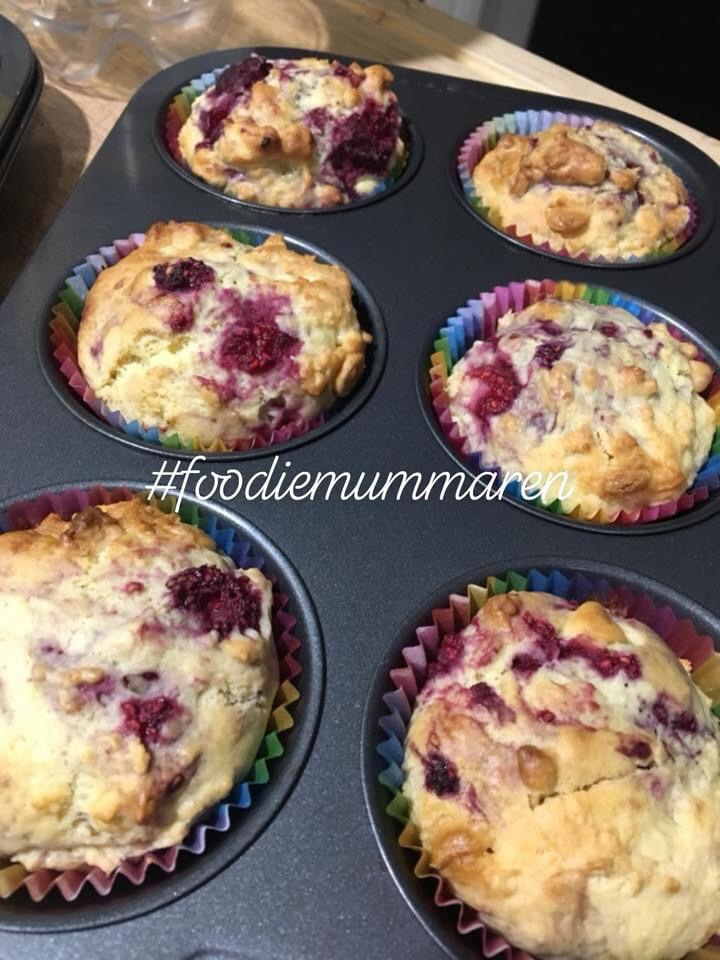 White Chocolate & Raspberry Muffins